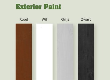 WOCA EXTERIOR PAINT Rood - 100 ml